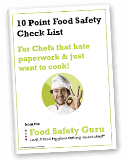 Free Guide (10 Point Food Safety Check List) - Food Safety Guru