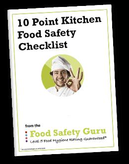 10 point kitchen food safety checklist